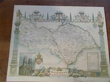 Antique c18th North Riding Yorkshire colour MAP York Minster Reproduction 20x16""
