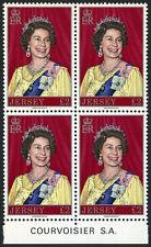 Jersey 155 block of 4, MI 172, MNH. Queen Elizabeth II, 1977