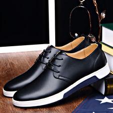 Zapatos de Cuero Genuino Británico Hombre Informal Con Cordones Zapatillas Deportivas Oxford transpirable NUEVO