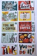 Starbucks Card 2018 Fall Recycled 10 Gift Card Set Lot