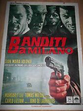 """MANIFESTO ORIG. FILM """" BANDITI A MILANO """" G.M. VOLONTE' - 1968 -"""