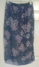 *BNWT* Marks and Spencer Indigo Purple Floral Maxi Skirt Size 12 Short S