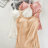 Women's Camisole Hammock Simple Tops Adjustable Strap Built Bra Padded Wire Free