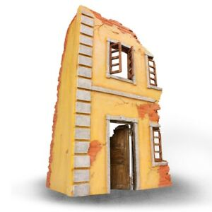 1:24 VS Army 2 Story Ruined Building Diorama Tank Accessory 2 Pc Front Corner