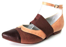 BALLERINES BOUT POINTU 37 cuir naturel marron Rina ONE STEP femme NEUF
