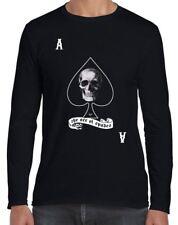 Ace Of Spades Skull Long Sleeve T-Shirt - Goth Biker Emo