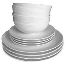 Porcelain Gourmet Basics By Mikasa Orbital 12 Piece Dinner Crockery Set