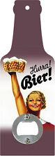 Handflaschenöffner - Hurra Bier -Flaschenöffner in Bierflaschenform GB8577-7