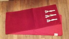 Vintage Red White Christmas Reindeer 6Ft Table Runner Free Shipping