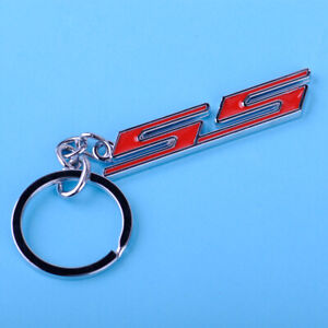 Chrome Metal Super Sport SS Key Chain Ring Keychain Fit for Chevrolet Chevy