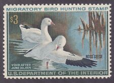 US RW37 MNH OG 1970 $3 Ross's Geese Duck Hunting Stamp
