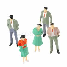 Various Poses Painted Model People Figures 100pcs Diorama Layout DIY 1:200 Scale