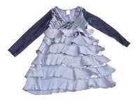 Girls Lemon Love Lime Purple Dress Size 5 ruffles