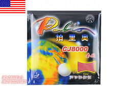 2PCS Palio CJ8000 2Side Loop Table Tennis Pips-In Rubber with Sponge Red + Black