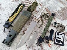 Jungle Knife No. 1-Combat King-Survival outdoor cuchillo + supervivencia paquete
