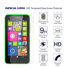 Tempered Glass Screen Protector Anti Scratch for Microsoft Nokia LUMIA 630 UK