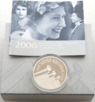 2006 Royal Mint Queens 80th Birthday £5 Five Pound Silver Proof Coin Box Coa