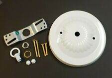 """5"""" White Ceiling Canopy Kit For Light Fixtures 1 1/8"""" Deep New 10801Wjb"""