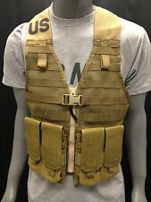 NEW COYOTE FIGHTING LOAD CARRIER TACTICAL VEST FLC W/2 DOUBLE/DOUBLE MAG POUCHES