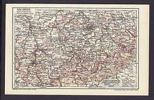 Sachsen (Königreich) I. Südlicher Teil, alte Landkarte mit Jahreszahl 1912