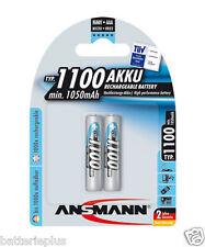 2 pezzi ANSMANN Micro AAA Batteria 1100mah/1,2v NiMH