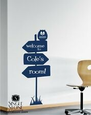 Wall Decals Sign of Adventure - Vinyl Wall Stickers Art