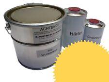 1,5 Set Litre 2K Revêtement de sol RAL 1018 Jaune zinc Glanz Peinture Atelier