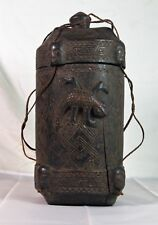 Antique African Hand Carved Wooden  Spirit Vessel, VERY RARE