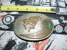Western Buckle Co. Sandpiper Hand Made Horse and rider #7 free ship USA