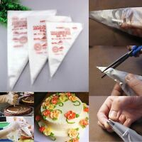 Disposable Piping Bag Icing Fondant Cake Cream Decorating Pastry Tip Tool 100Pcs