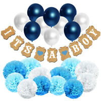 Set of 23 Party Decoration for Boy. IT'S A BOY Baby Shower Hanging Banner Kit