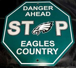 NFL Philadelphia Eagles Danger Ahead Stop Sign