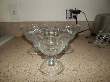 3 Covetro Italy Glass Large Ice Cream Sundae Cups/Bowls Dessert