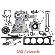 85-95 TOYOTA 2.4L HD Timing Chain Kit/Cover/Oil Pump/Head Gasket 22R 22RE 22REC