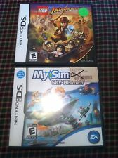 Nintendo Ds games Lego Indiana Jones 2 and My Sims Sky Heroes