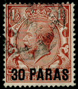 BRITISH LEVANT SG35, 30pa on 1½d red-brown, FINE USED. Cat £14.