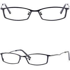 Ultra Light Women Metal Titanium Frame Small Metallic Prescription Glasses Black