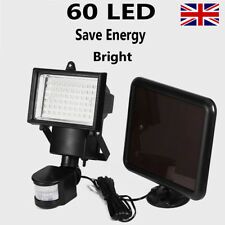 60 LED Bright Solar Powered PIR Sensor Flood Security Light Outdoor Garden Wall