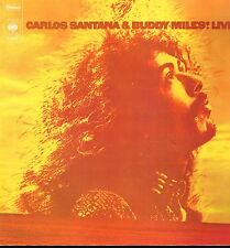 "LP 12"" 30cms: Carlos Santana & Buddy Miles: live! CBS. B8"