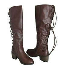 NEW! Betseyville by Betsey Johnson Drango Tall Lace-Up Boots - Black OR Brown