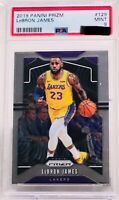 2019-20 Panini Prizm LeBron James #129 Los Angeles Lakers PSA 9