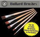 Set of (5) Sable Brushes Specifically for Rod Building Finish/Epoxy/Coating