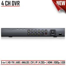 4CH DVR Digital Video Recorder CCTV HD-TVI/AHD/ANALOG/CVI/IP H.265+ 1080p HDMI