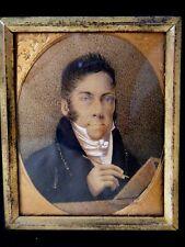 Antique Portrait Miniature, Self-Portrait of the Artist c1820