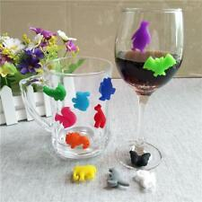 HOT Drink Silicone ID Glass Makers Tags For Wine Glass Cup Bottle 12pcs SS