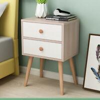 Bedroom Bedside sofa End side Locker Double Drawer Nightstand Storage Cabinet 6T