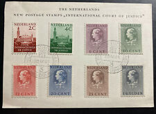 1951 The Hague Netherlands Postcard First Day Cover FDC International Court