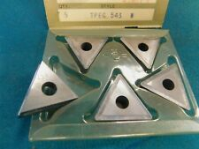 5 Valenite TPEG 543 VC-7 Carbide Inserts