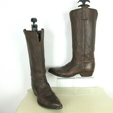 Vintage Justin Womens Sz 6.5 B Brown Leather Tall Cowboy Western Boots L4034