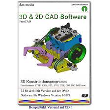 3D CAD Software, geometrische 2D & 3D Modelle erstellen, Konstruktionsprogramm
